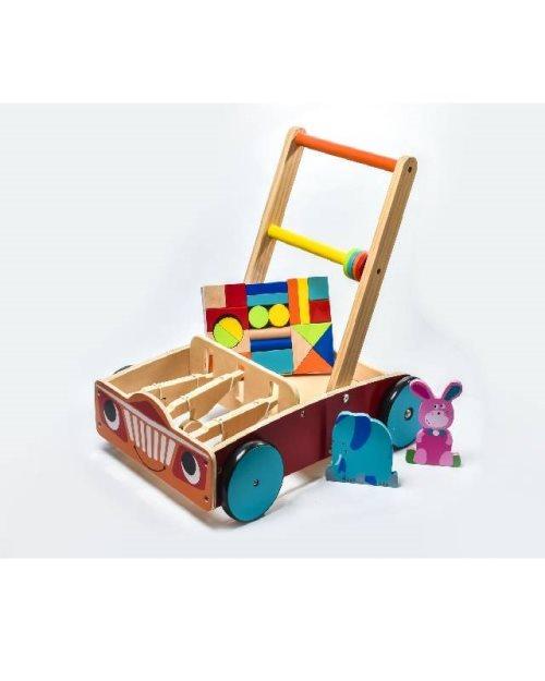 6028 - Дрвена количка за туркање