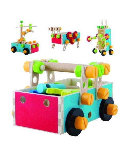 5663 - Дрвен сет работилница - количка