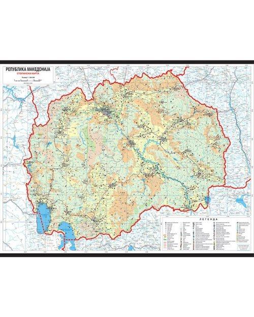 Г002 - Република Македонија стопанска карта