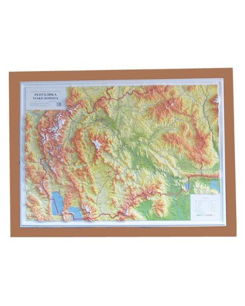 Г006 - Република Македонија релјефна карта