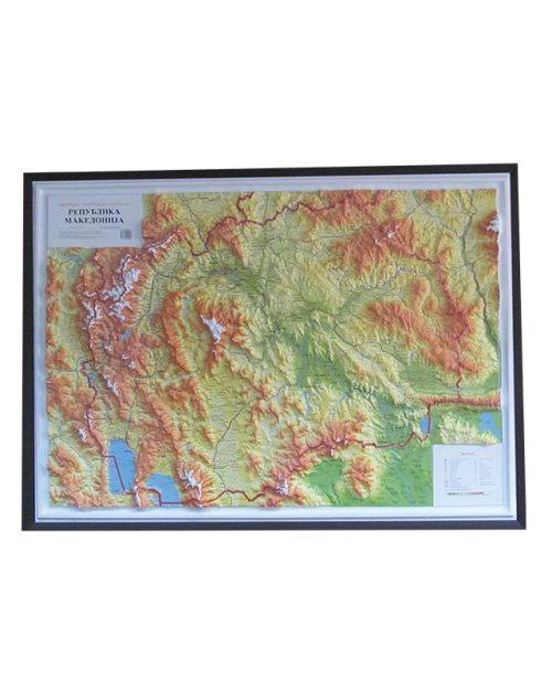 Г007 - Република Македонија релјефна карта