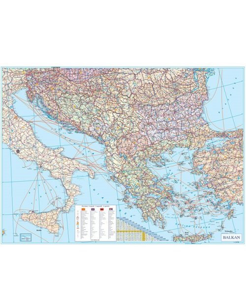 Г010 - Балкан патна карта