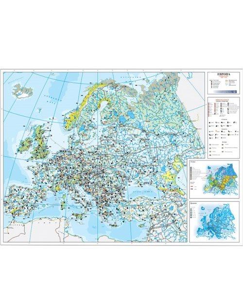 Г013 - Европа стопанска карта