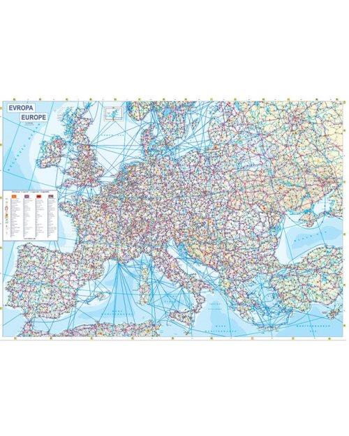 Г014 - Европа патна карта