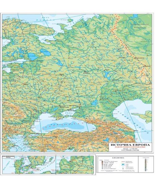 Г016 - Источна Европа физичко географска карта