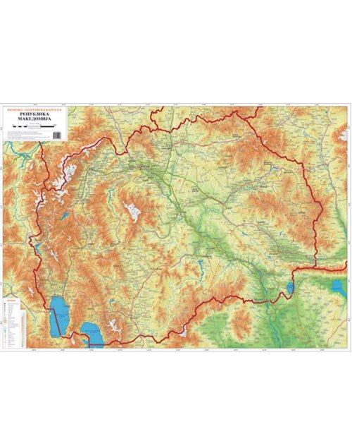 Г001 - Република Македонија физичко-географска 2 во 1