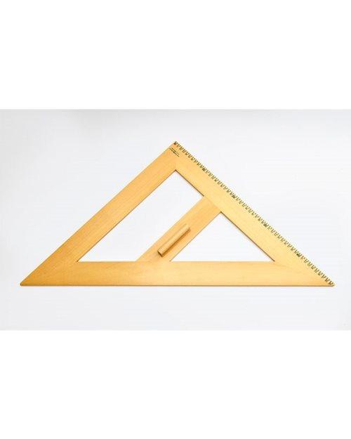 М001 - Дрвен рамнокрак триаголник 45х50 см.