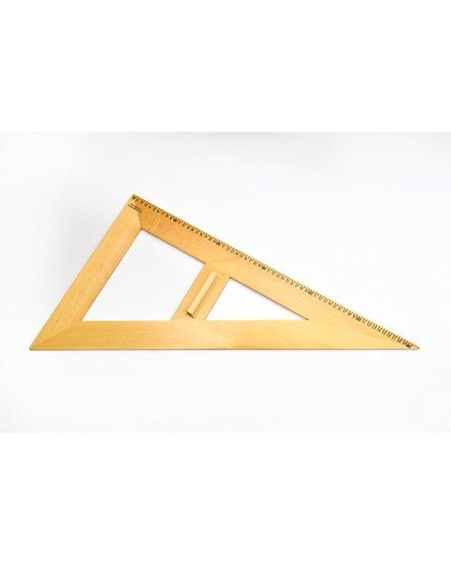 М002 - Дрвен разностран триаголник 60х60 см.