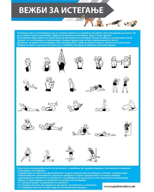 СП077 - Постер вежби за истегање