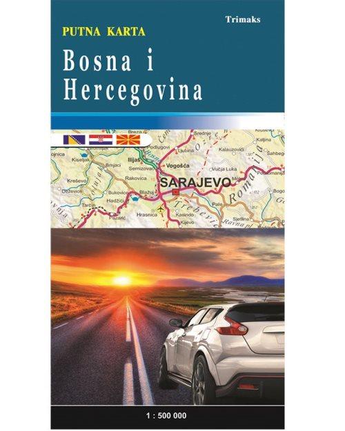Босна и Херцеговина патна карта - 6909