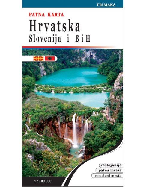 Хрватска Словенија и БиХ патна карта - 52
