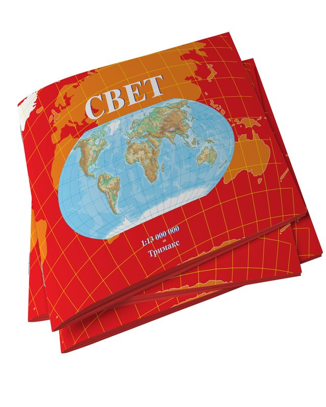 Школска карта Свет - 4715
